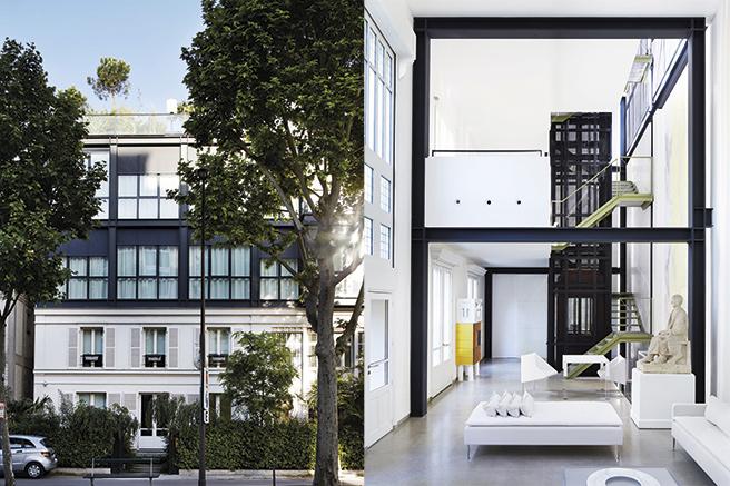 une maison d 39 architecte moderniste paris 16. Black Bedroom Furniture Sets. Home Design Ideas