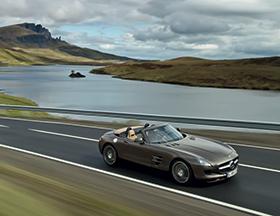 Mercedes SLS AMG roadster, une merveille !