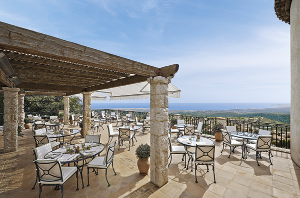 Star-rated dining at the Château St-Martin