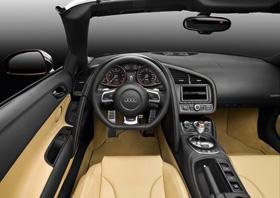 L'Audi R8 Spyder : surpuissante décapotable