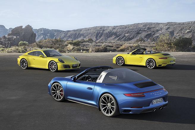 Porsche 911 Carrera 4  et 911 Targa 4