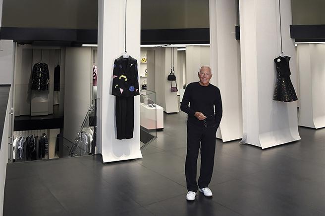 Nouveau design pour la boutique Emporio Armani