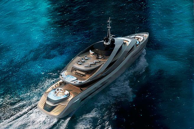 The superyacht as seen by Pininfarina